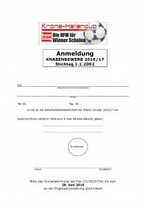 Anmeldung Knaben 17-001
